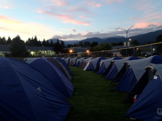 Tent city, Squamish, BC.