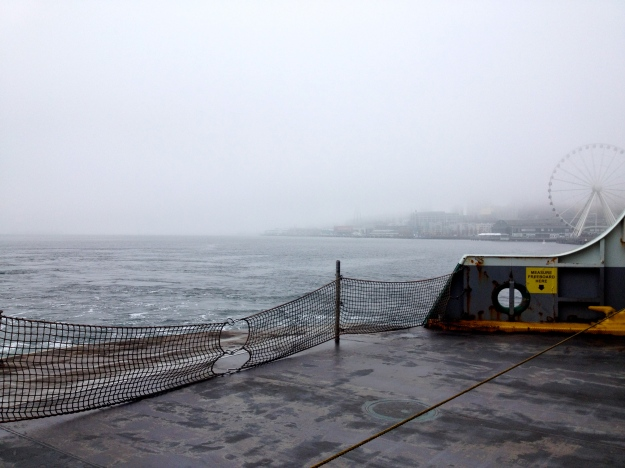 Foggy ferry views.