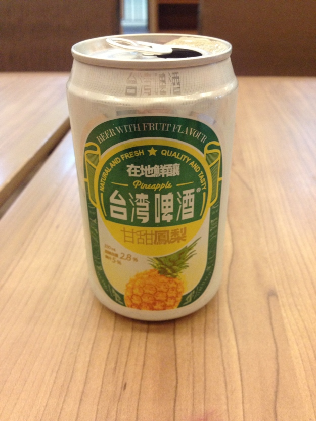 A Taipei shandy, with pineapple juice. Oh yes.