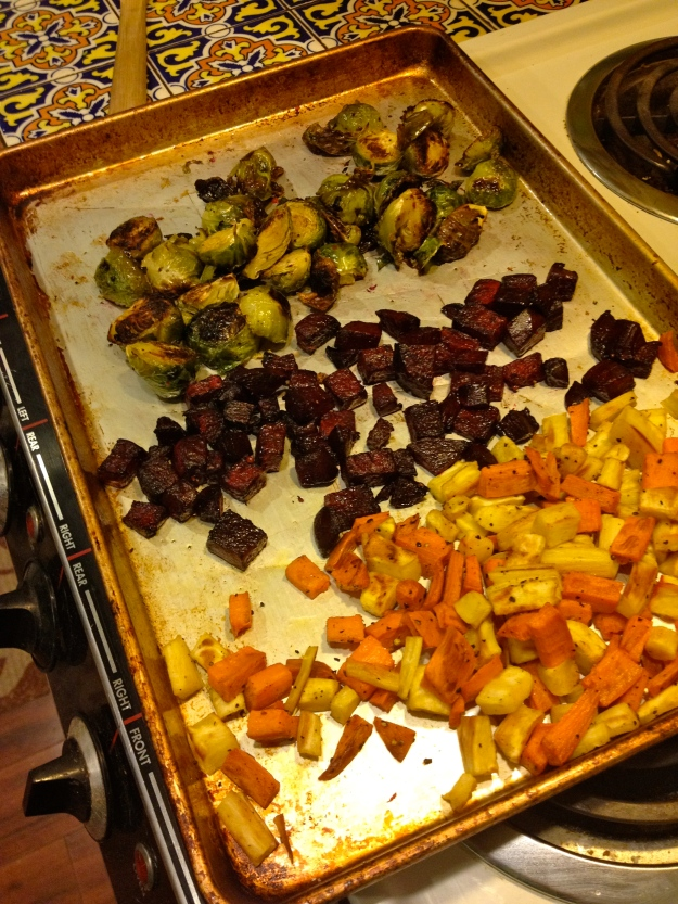 Veggie roasting spree.